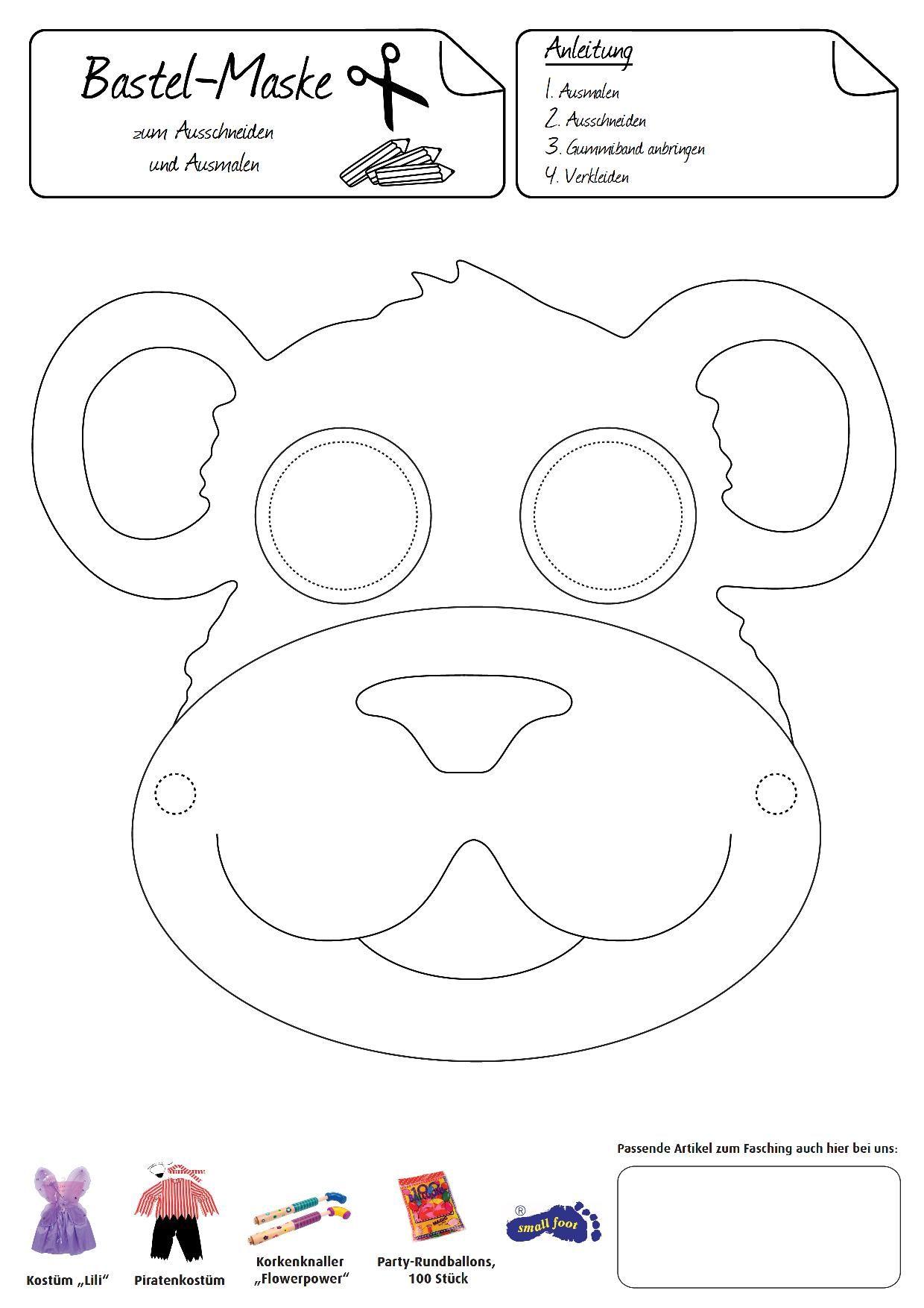 Free Printable Halloween Masks for kids   Homemade Halloween ...