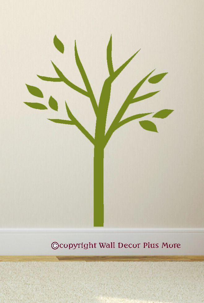 Primitive Tree Silhouette Vinyl Wall