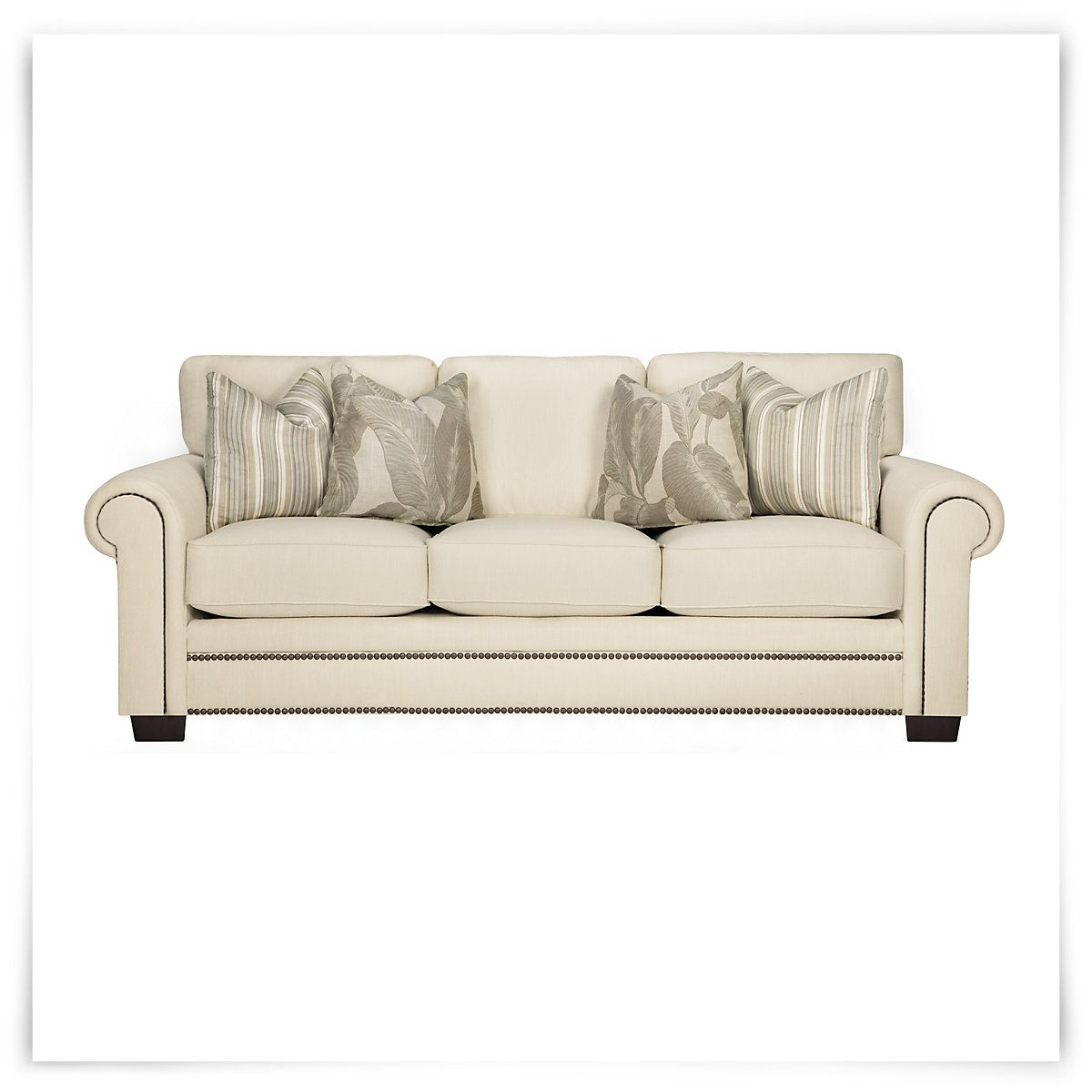 Erin White Fabric Sofa 699 95 White Fabric Sofa City Furniture White Fabrics