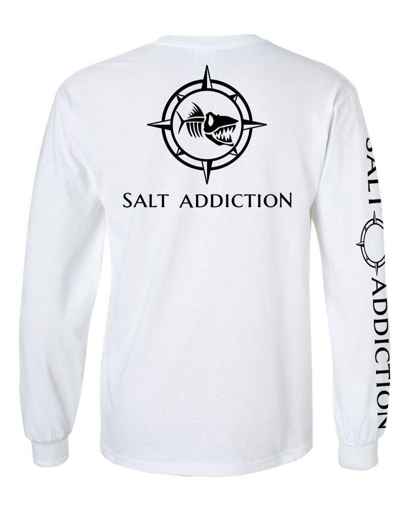 White Long Sleeve Microfiber UPF UV Florida Flats Fishing Shirt