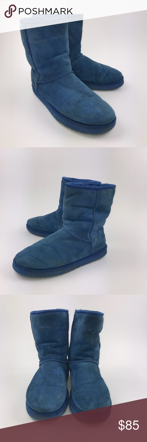 671bba96a410 UGG Women s Blue Crystal Bow Classic Short Boots. Size 11 ...