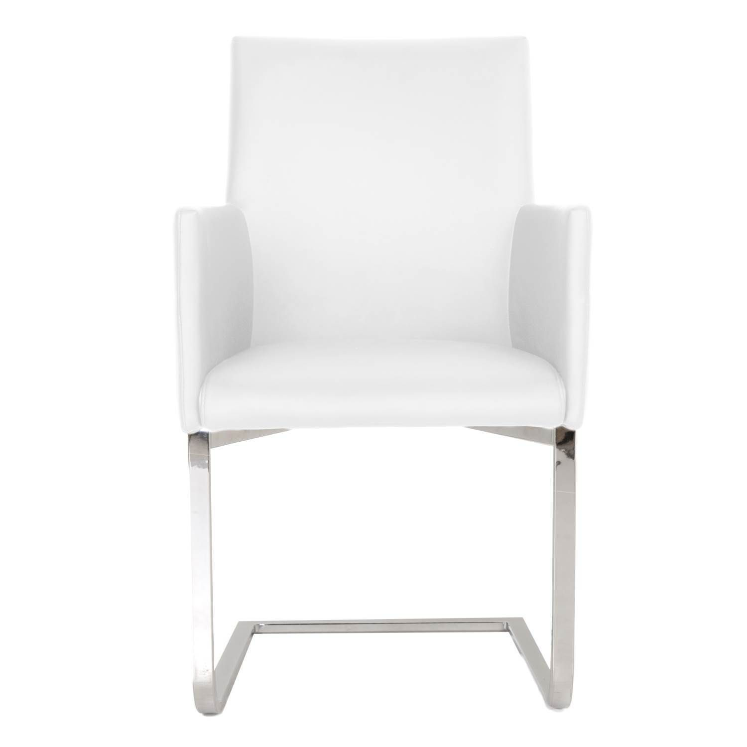 Modern Life Michele White Faux leather and Metal Dining Chair