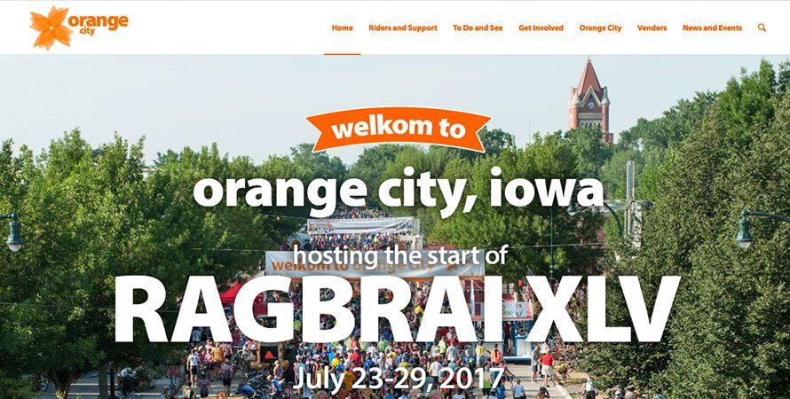 Orange City Ragbrai Web Site Includes Registrations And