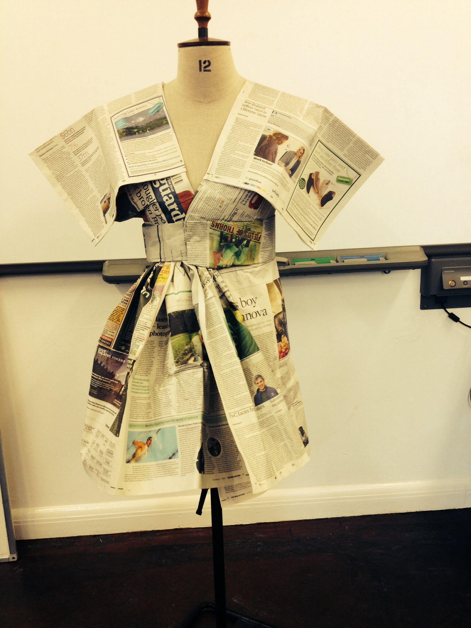 Japanese news paper dress idea | Fashion | Recycled dress