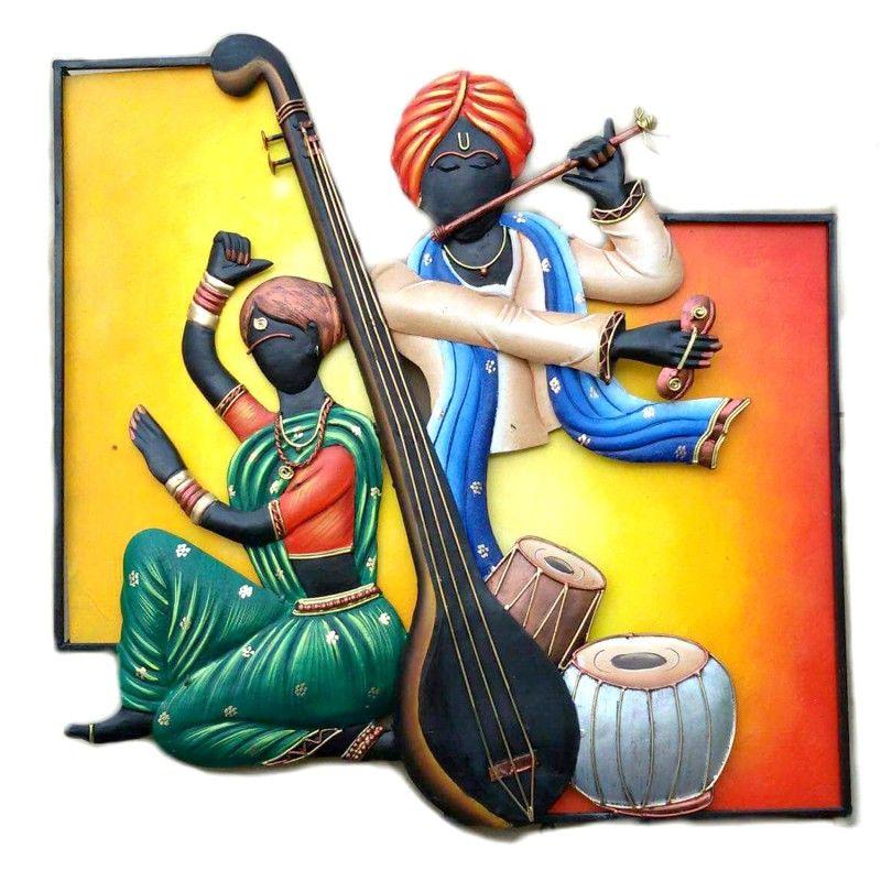 Traditional Style Of Radha Krishna Wall Hanging Walldecor Wallart Wallhanging Handmade Handcrafte Mural Art Design Sculpture Art Clay Indian Art Paintings