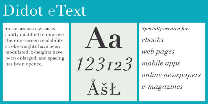 Linotype Didot Etext Pro Font Download A Clear And Enjoyable Reading Experience Hinges On The Legibility Of Text Copy Especi Download Fonts Didot Font Names