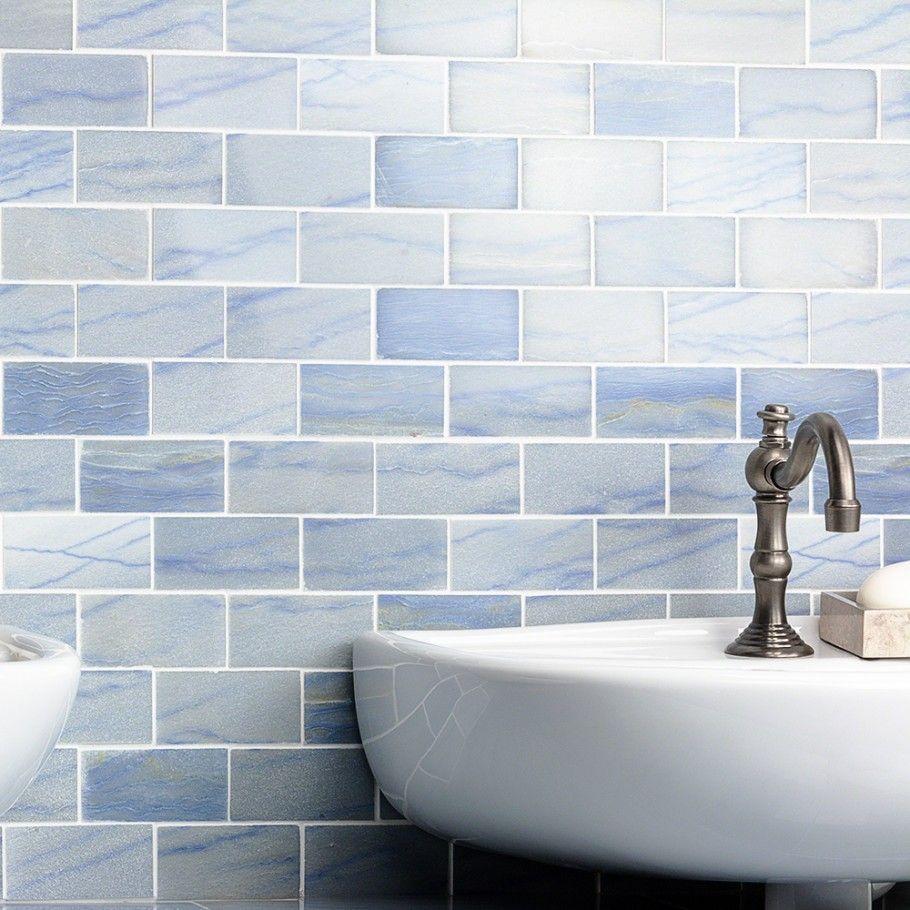 Blue Macauba 2x4 Polished Marble Tile | Marbles, Beach bathrooms and ...