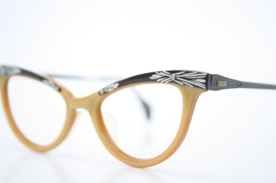 NOS Cat Eye Glasses Vintage Cateye Frames Eyewear 1960s Eyeglasses