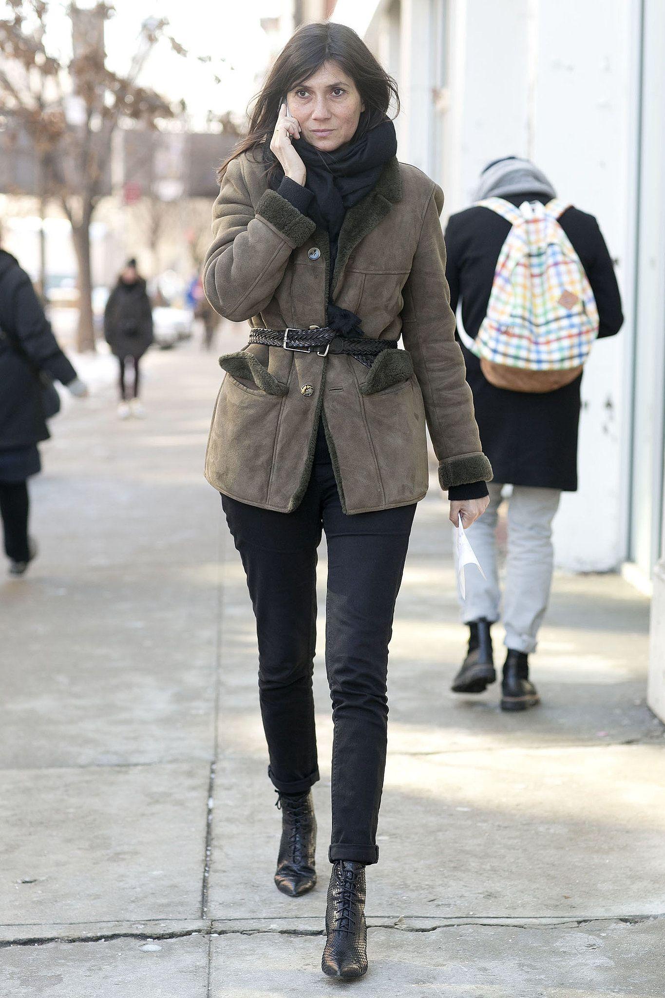 We always appreciate Emmanuelle Alt's understated approach. Street Style New York Fashion Week 2014 #NYFW