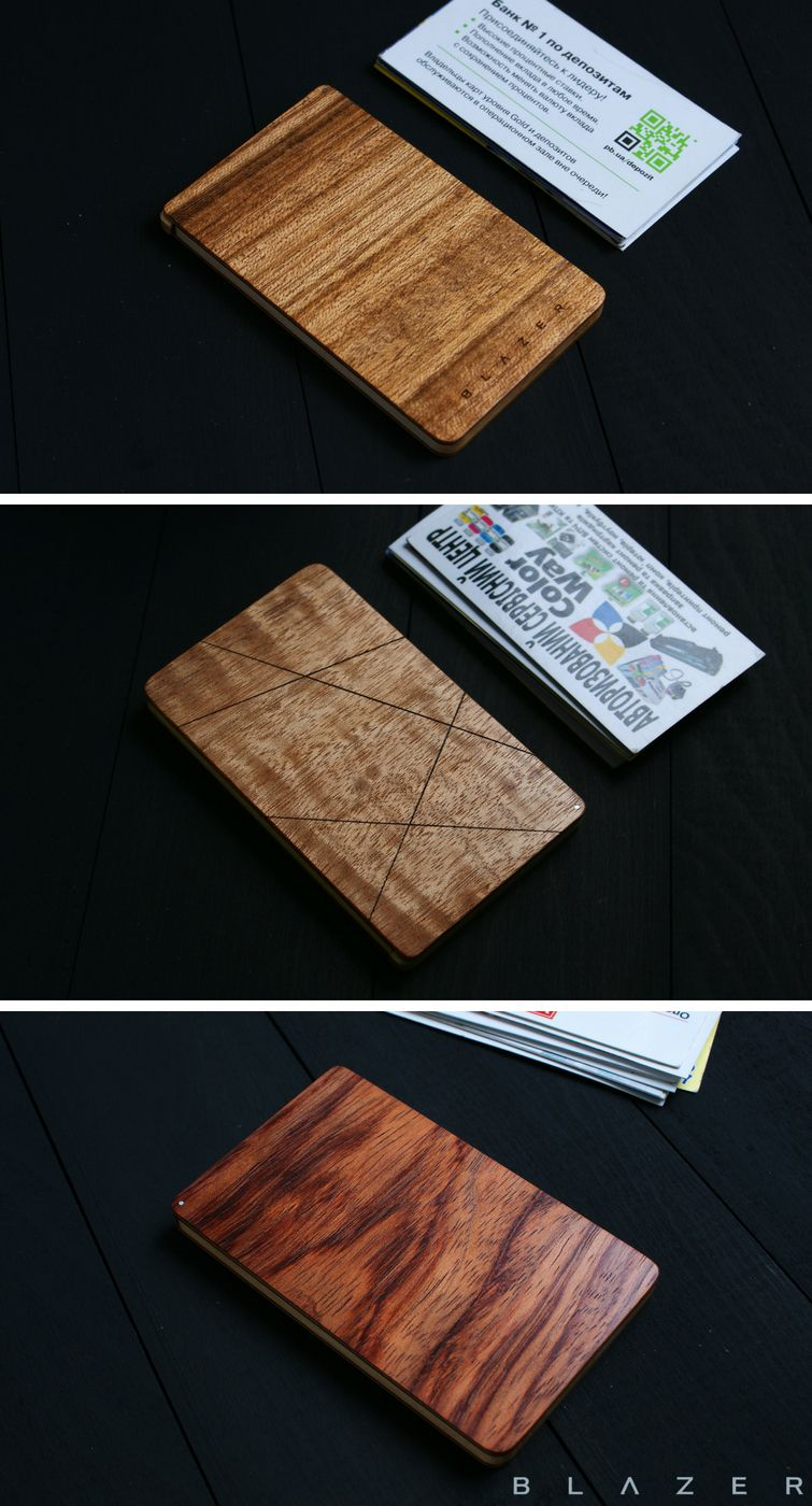 Blazer Wooden Business Card Case For 15 20 Business Cards Wood