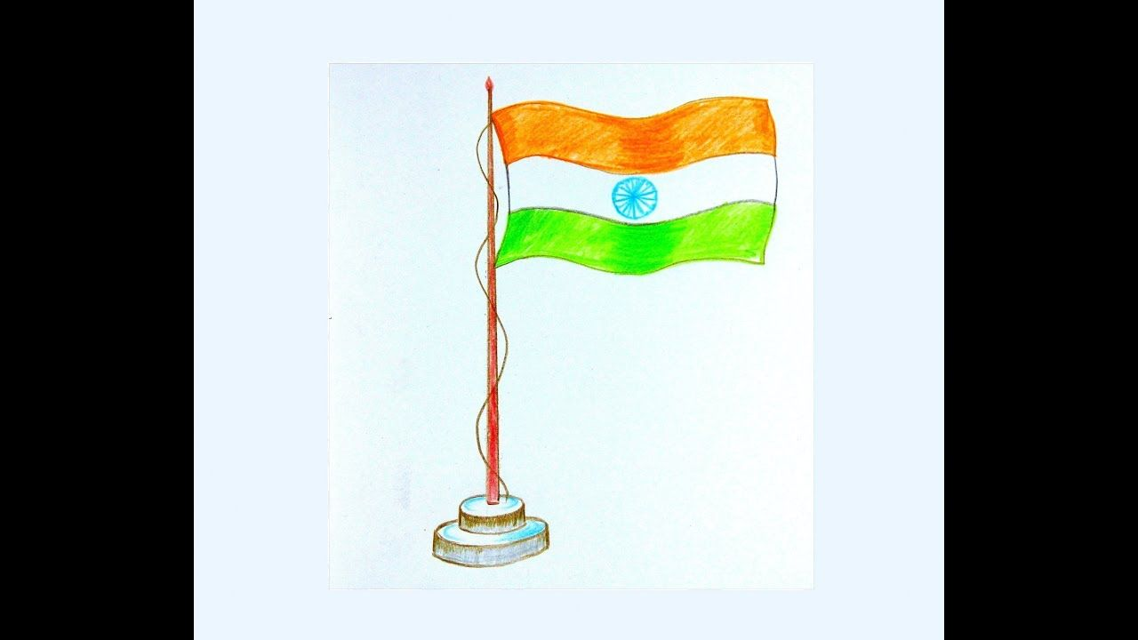 How To Draw Indian National Flag In Independence Day Or Republic Day Flag Drawing Flag Painting Indian Flag