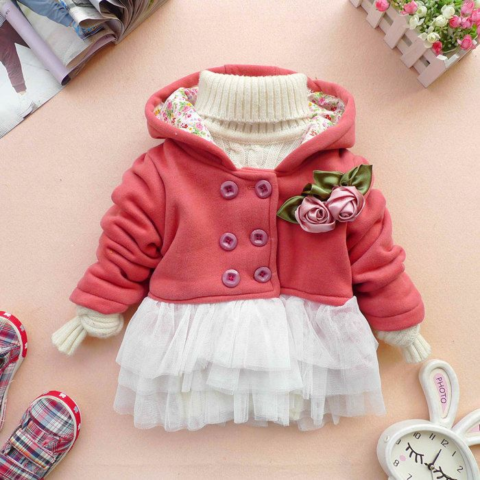 3574cc165 ADORABLE!!! baby girl clothes autumn spring winter coat kid pink ...