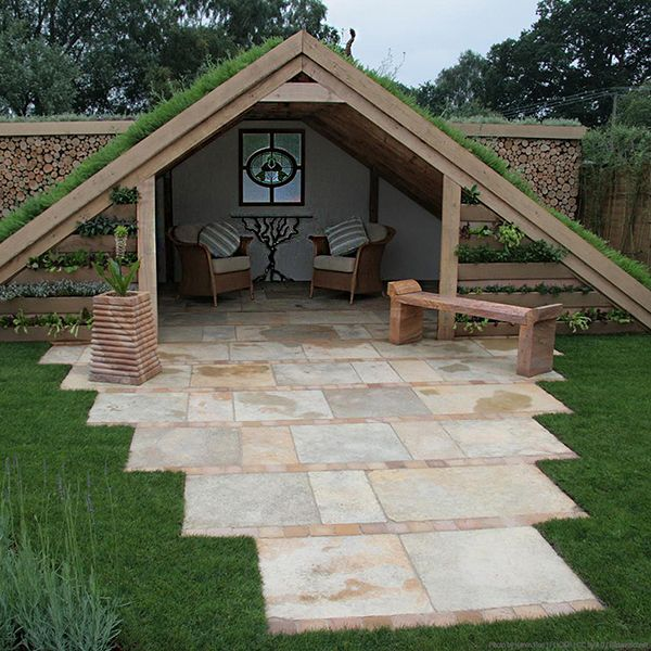 Kleines Refugium Sitzplatz Im Garten Diy Terrasse Eine Veranda Bauen