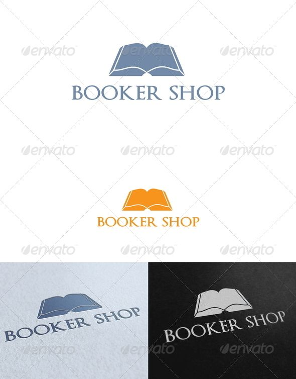 Booker shop logo template pinterest shop logo logo templates booker shop logo template graphicriver book and publisher logo template re sizable vector eps and maxwellsz