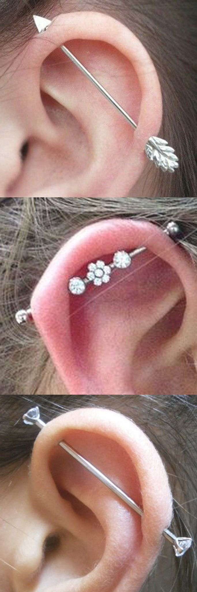 Double lobe piercing ideas   Trending Ear Piercing Ideas to Try This Summer   Industrial