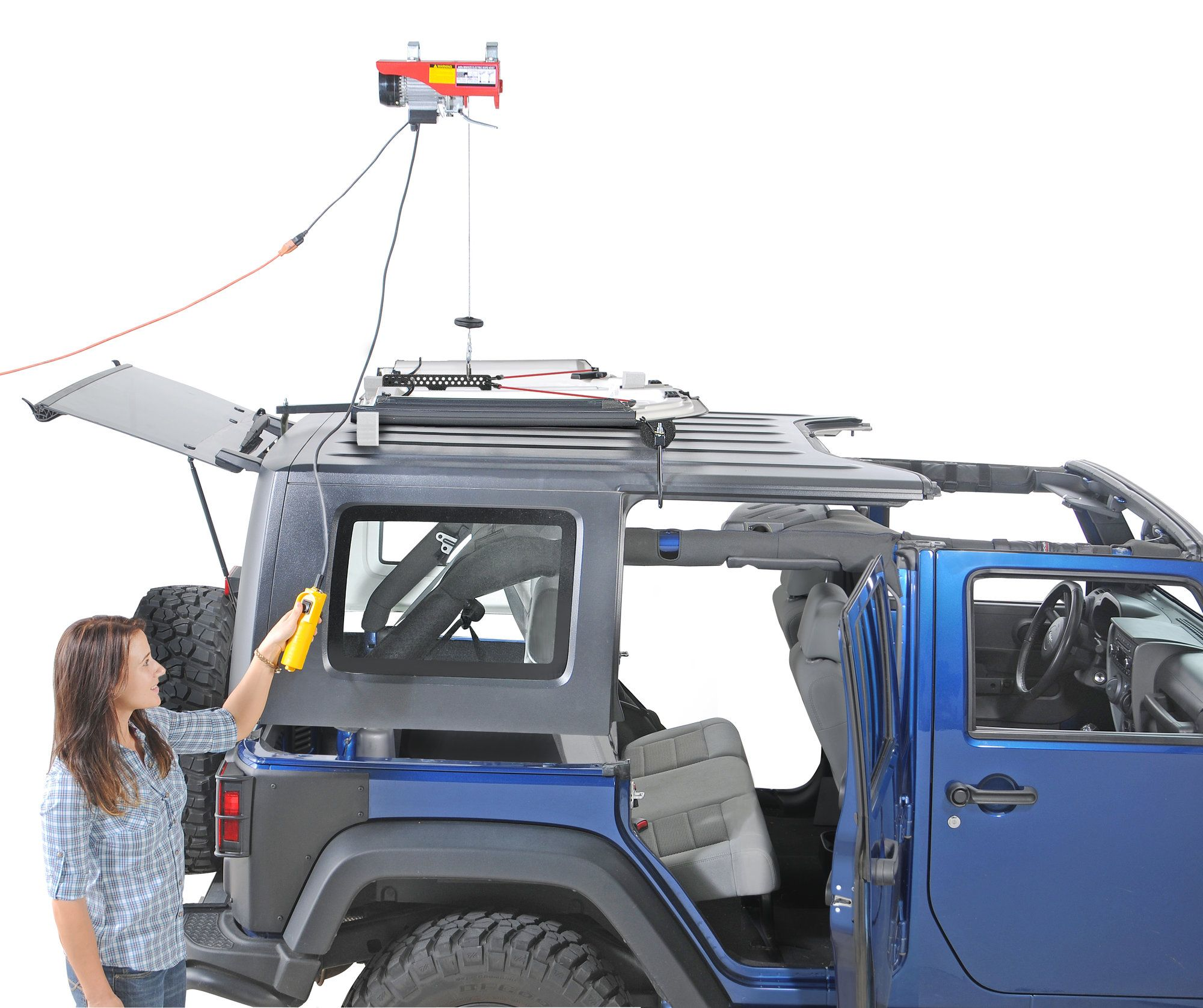 My 12 Diy Jeep Hardtop Hoist With Images Diy Jeep Jeep Tops