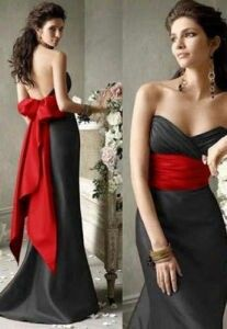 Pin By Lea O On Red Black And White Bridesmaids Dresses Black