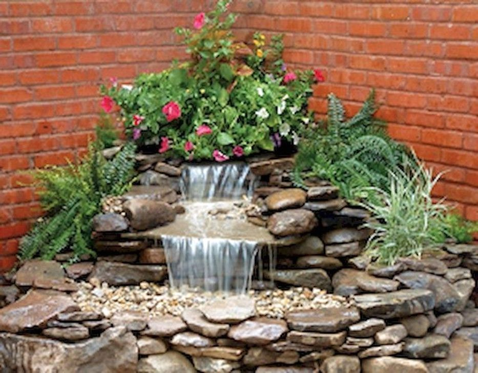 50 Cozy Diy Outdoor Waterfall Ideas For Beautiful Decoration Waterfalls Backyard Water Features In The Garden Ponds Backyard