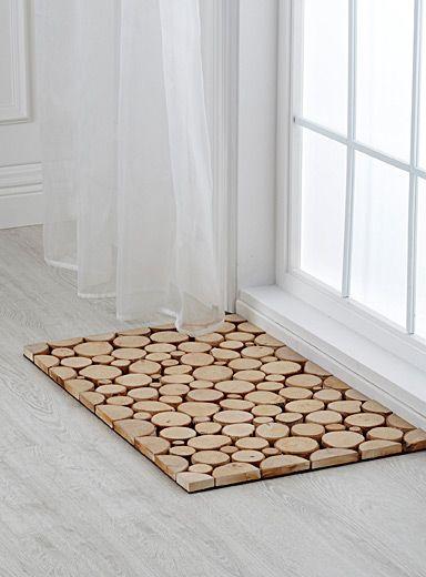 Tapis D Entree Mini Buchettes Mini Wood Slices Door Mat