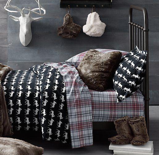 European Moose Print Amp European Cabin Plaid Flannel