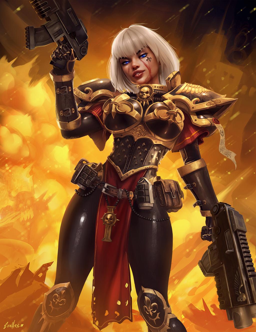 SoB By Evulart | 40k sisters of battle, Warhammer 40k