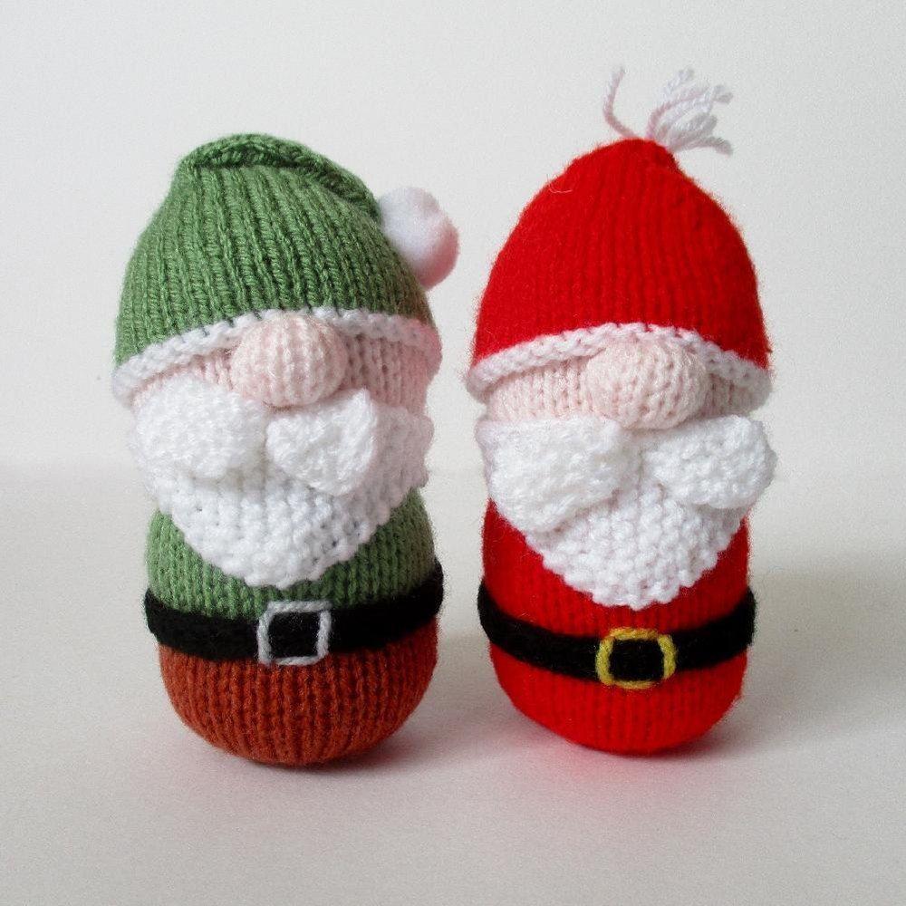 Knitting Pattern Christmas Tree: Santa And Gnome Knitting Pattern By Amanda Berry