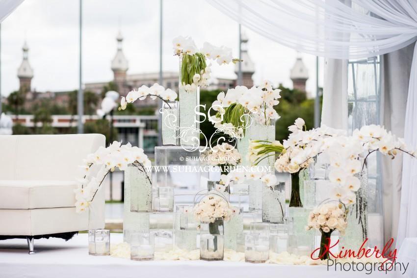 Suhaag Garden Florida Indian Wedding Decorator All White