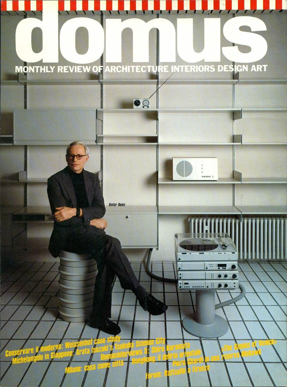 1984 Domus Interview With Dieter Rams Alessandro Mendini Interviews Dieter Rams Dieter Rams Braun Design Dieter Rams Design