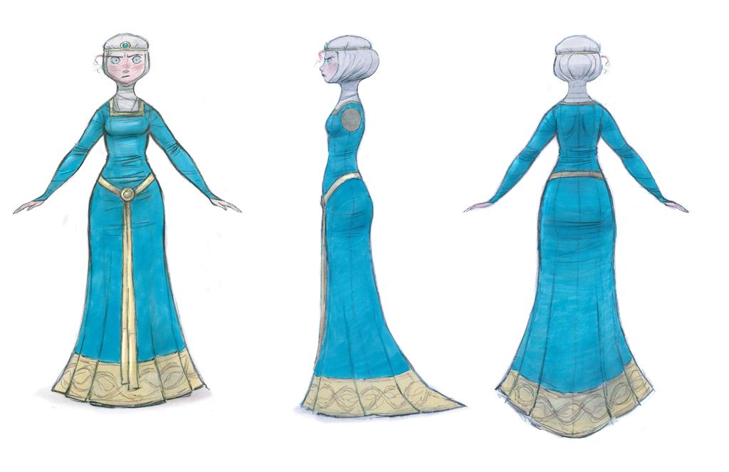 Behind The Movie Pixar S Brave Costume Design For The Royal Family Momstart Brave Pixar Merida Dress Merida Costume