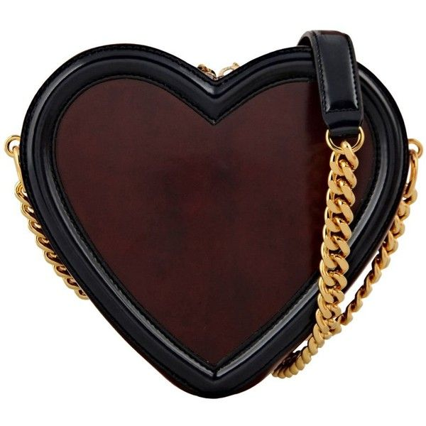 See this and similar STELLA McCARTNEY shoulder bags - Heart shape eco faux leather nappa bag with vegetable oil coating and contrasting tone trim. Slim gold cha...