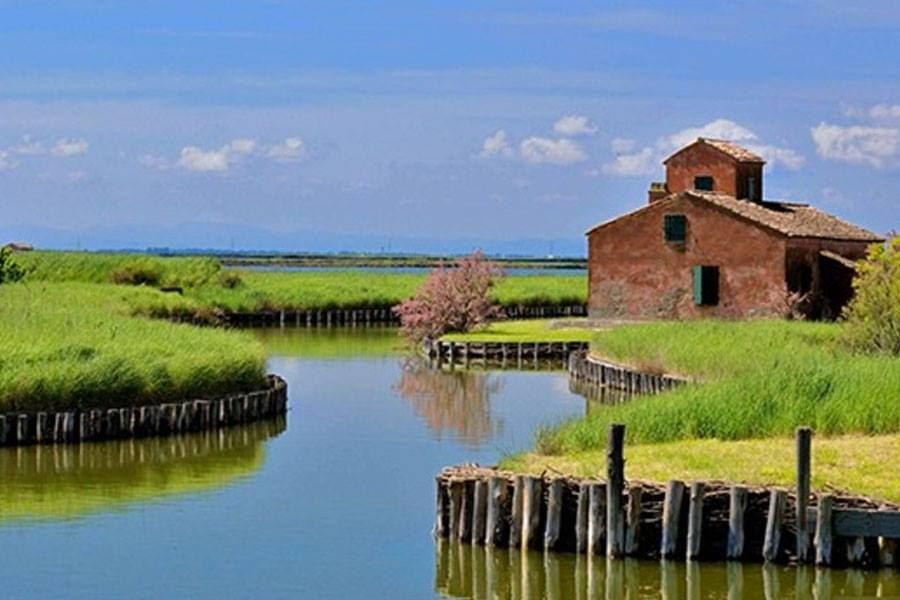 Ancient Watermill, Delta of Po river ( Rovigo ) - Italy