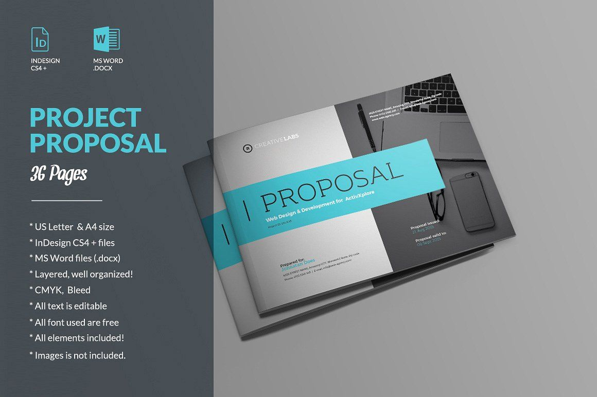 Project Proposal Template 008 by ID Vision