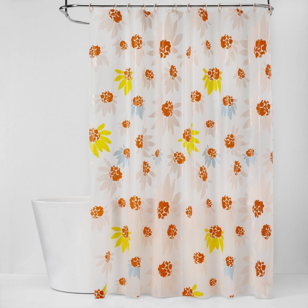 Floral Shower Curtain Bundle Orange Room Essentials Target