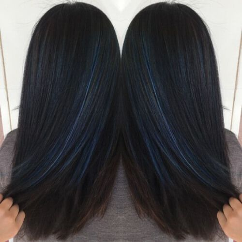 Cobalt Blue Low Highlights And Lowlights Blue Hair Highlights Hair Highlights And Lowlights Hair Tint