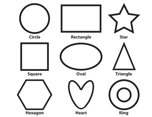 Basic Shapes Printable Coloring Page