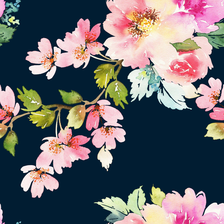 Removable Wallpaper Mural Peel & Stick Spring Floral