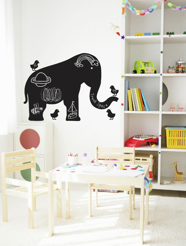 Elephant Nursery Idea - WallCandy Arts Elephant Chalkboard Wall ...