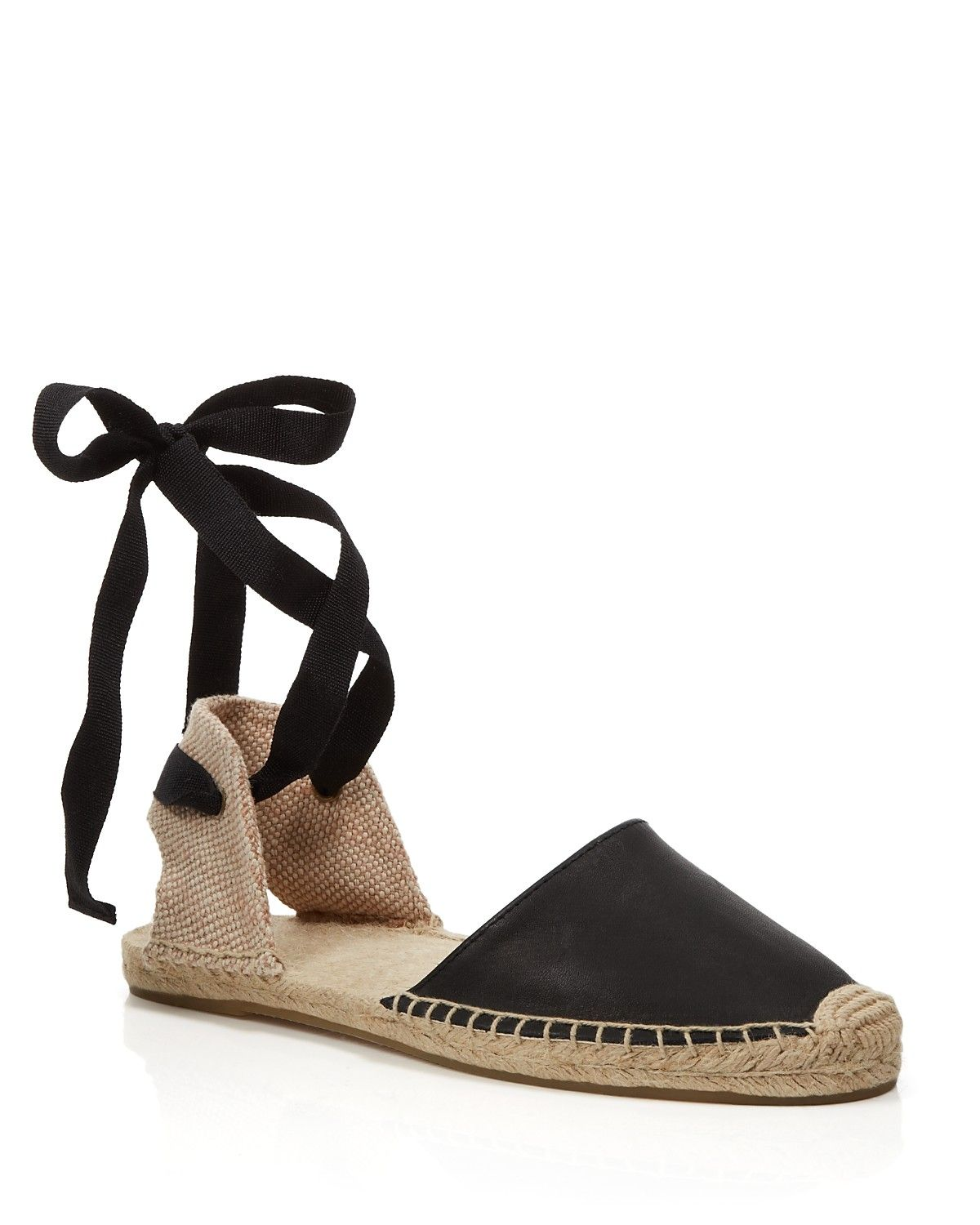 62ed7979380 Soludos Espadrille Flat Sandals - Classic Ankle Wrap ...