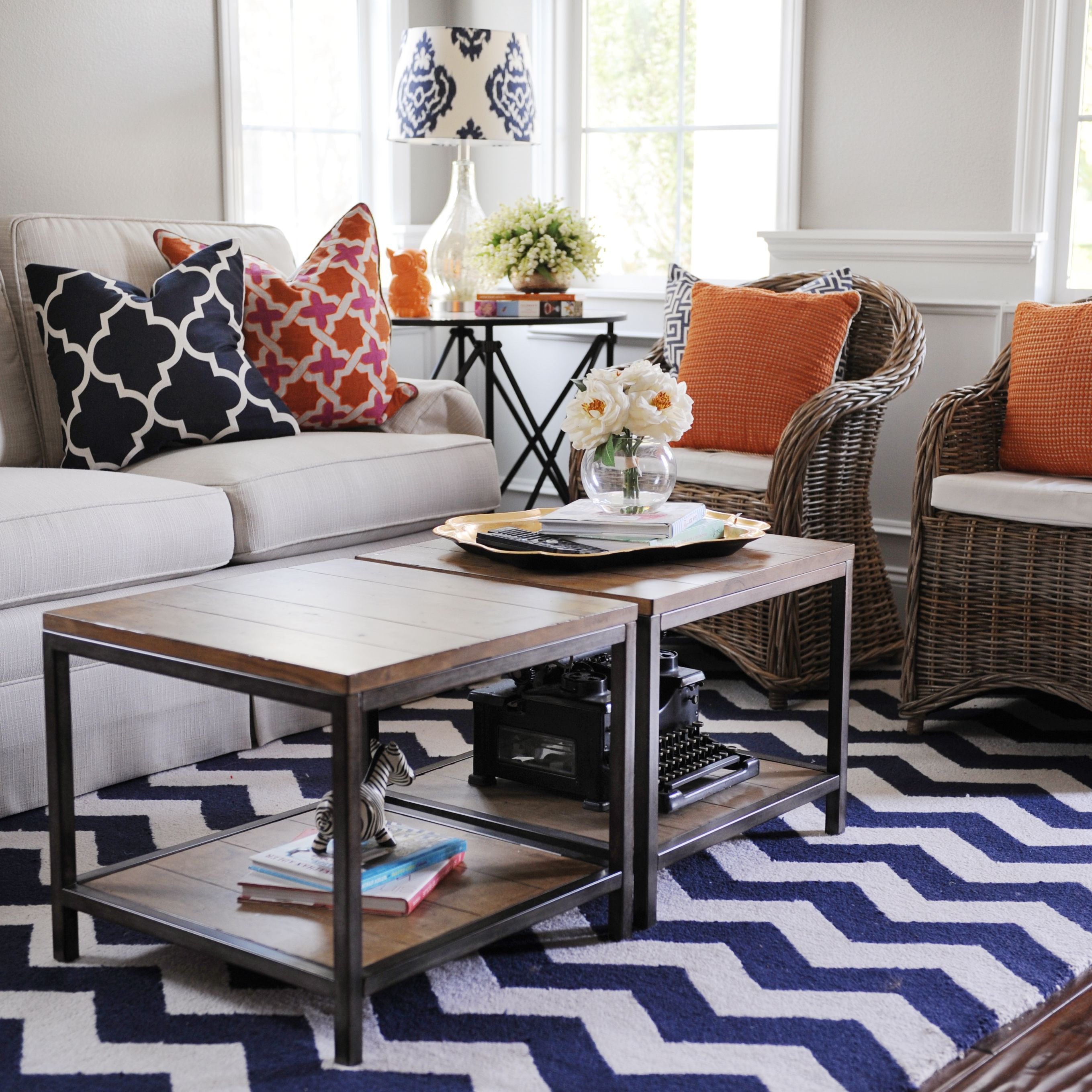 navy and orange and grey living rooms - Google Search ...