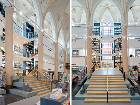 Waanders en de broerena 15th century dominican church converted into a bookstore in wassenaar