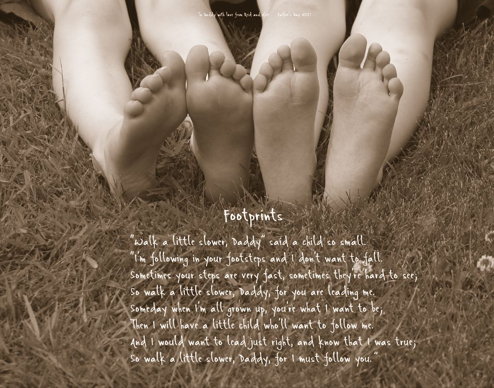 Footprint Photo & Poem Keepsake for Dad on Father's Day