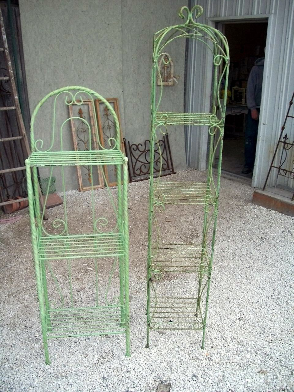 Wrought Iron Curl Tower Shelves Victorian Look With Images