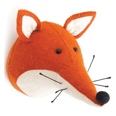 tierkopf fuchs foxi ein schlauer als tierisch coole kinderzimmer filz hangende dekorationen wandbehang treibholz wanddekoration orientalische
