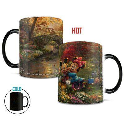 Morphing Mugs Disney Mickey and Minnie Mouse Sweetheart Central Park New York Coffee Mug #disneycoffeemugs