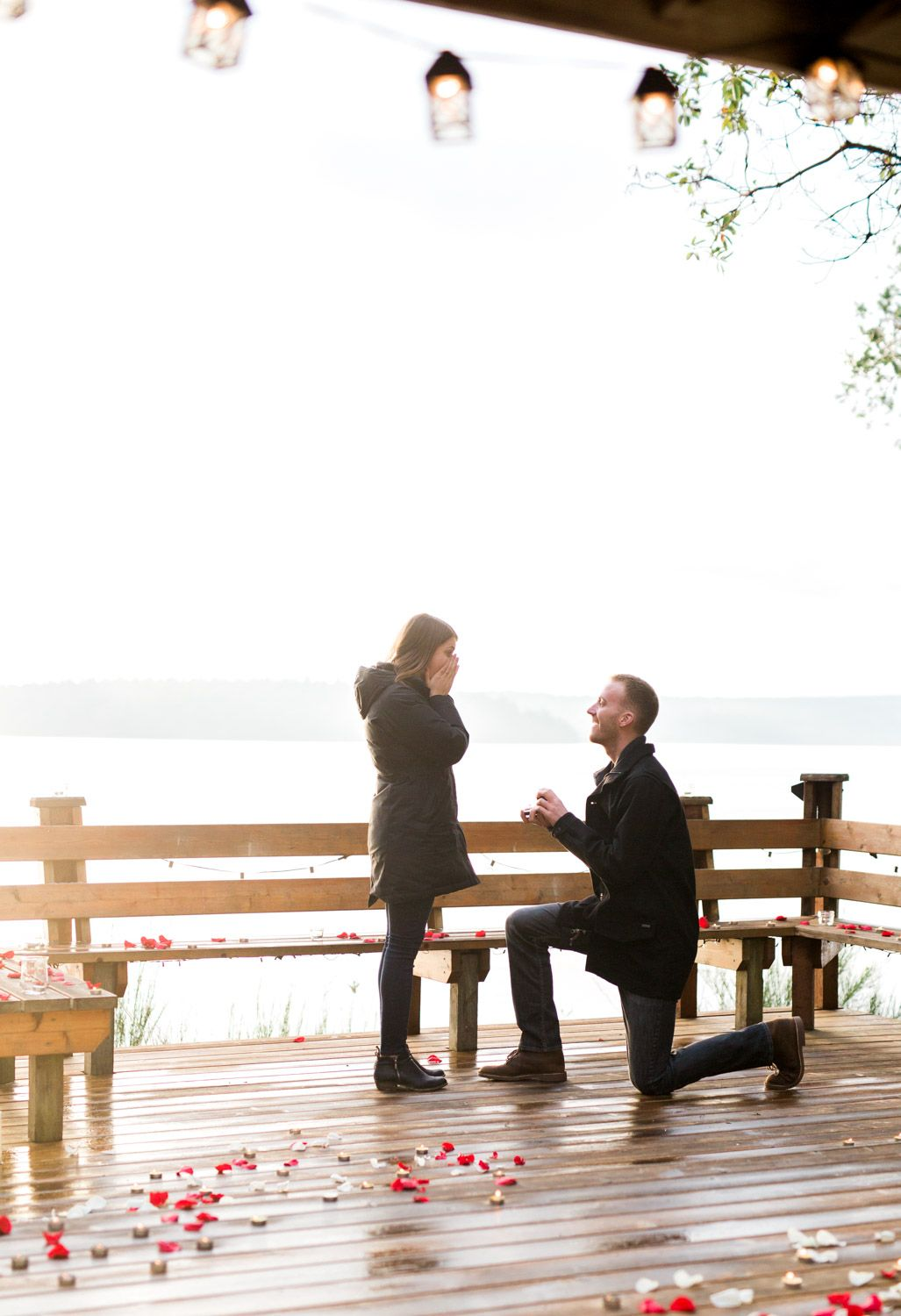 Surprise Proposal Hood Canal | Pacific Northwest Surprise Engagement | Down on one knee | Rose Petals and Candle Surprise Proposal | PNW Engagement | She Said Yes | Mastin Labs Fuji 400-7.jpg