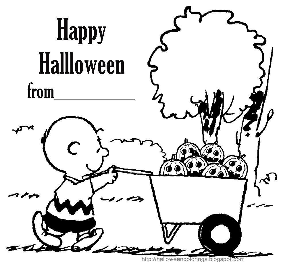 HALLOWEEN COLORINGS Snoopy Charlie Brown Peanuts | Halloween ...