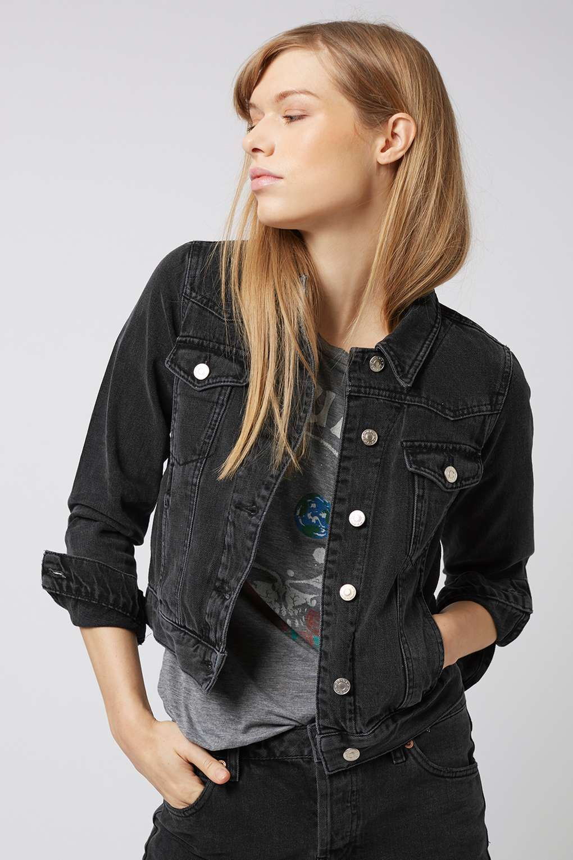 Moto Denim Western Jacket Black Denim Jacket Denim Jacket Women Black Jean Jacket Outfit