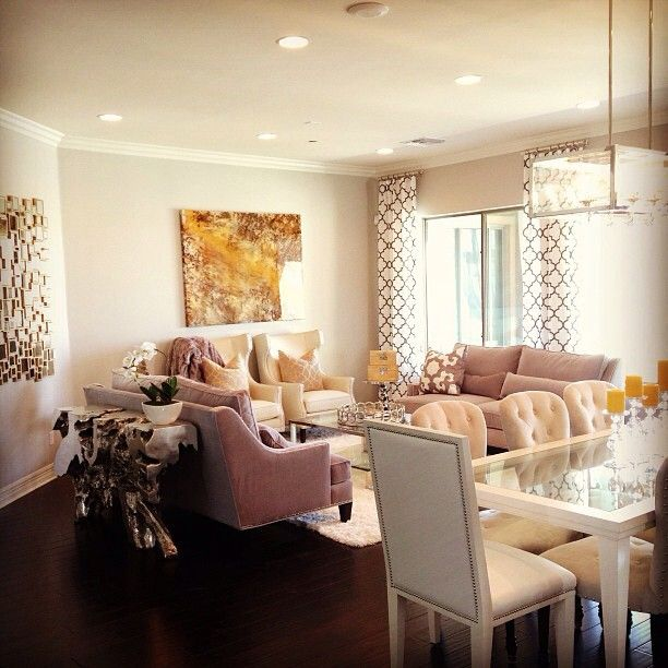 Allisonu0027s Light And Soothing Living Room Is Styled With Z Gallerie Sofas,  Accent Chairs,