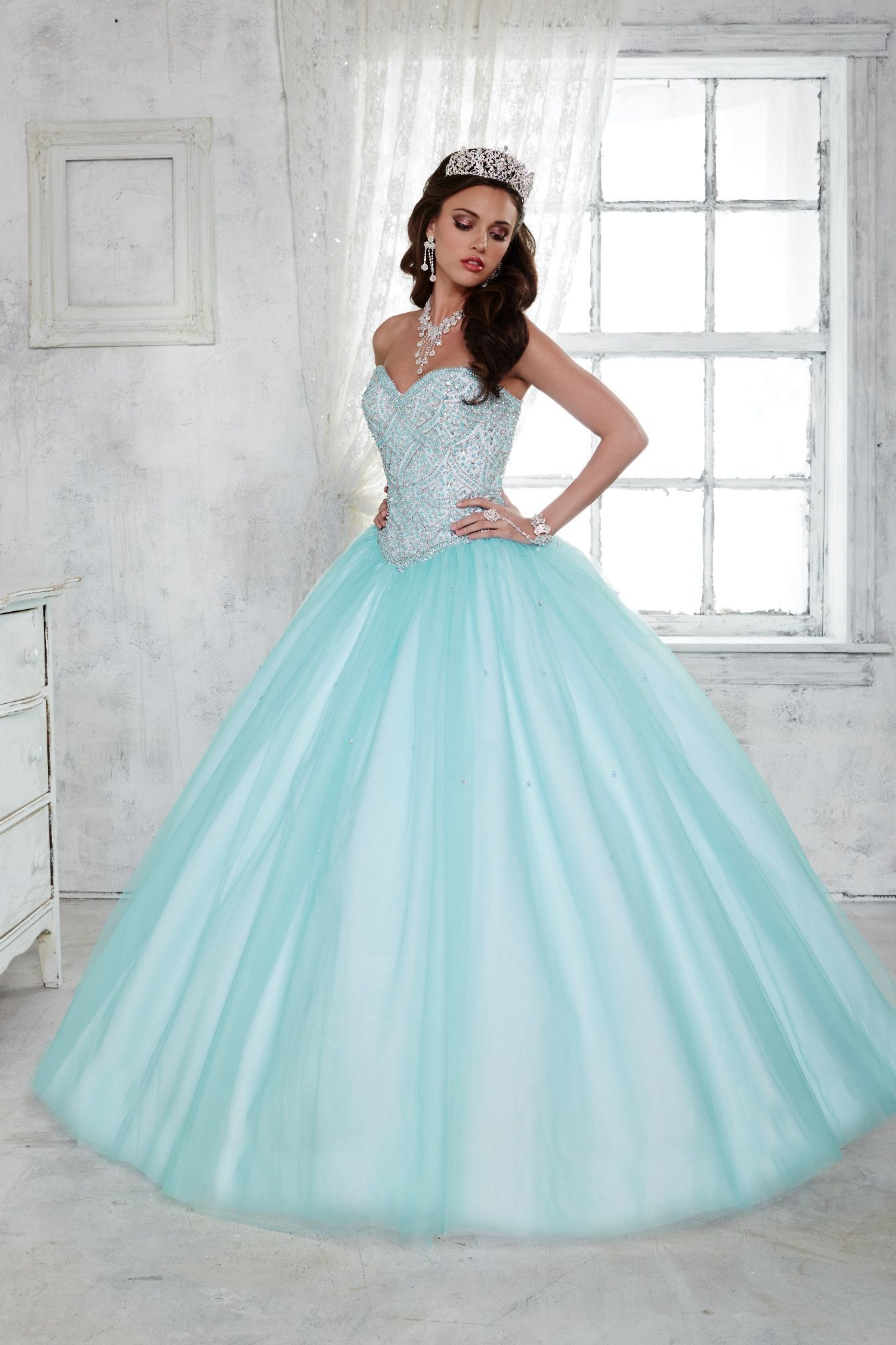 Strapless Beaded A-Line Dress by House of Wu Fiesta Gowns Style ...