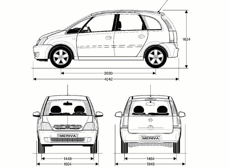 opel meriva a 2003 blueprint opel pinterest opel meriva. Black Bedroom Furniture Sets. Home Design Ideas